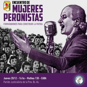 Mujeres peronistas - Encuentro 20/12 en el PJ Nacional